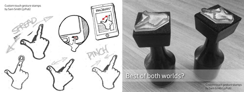 2 of Sam's custom gesture stamps (great for cheating at sketching and user-testing sessions alike)